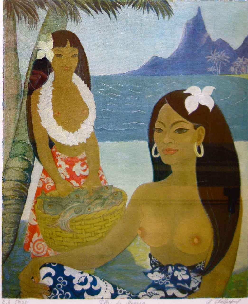 Filles de Moorea  54/... by  G. Deligne - Masterpiece Online