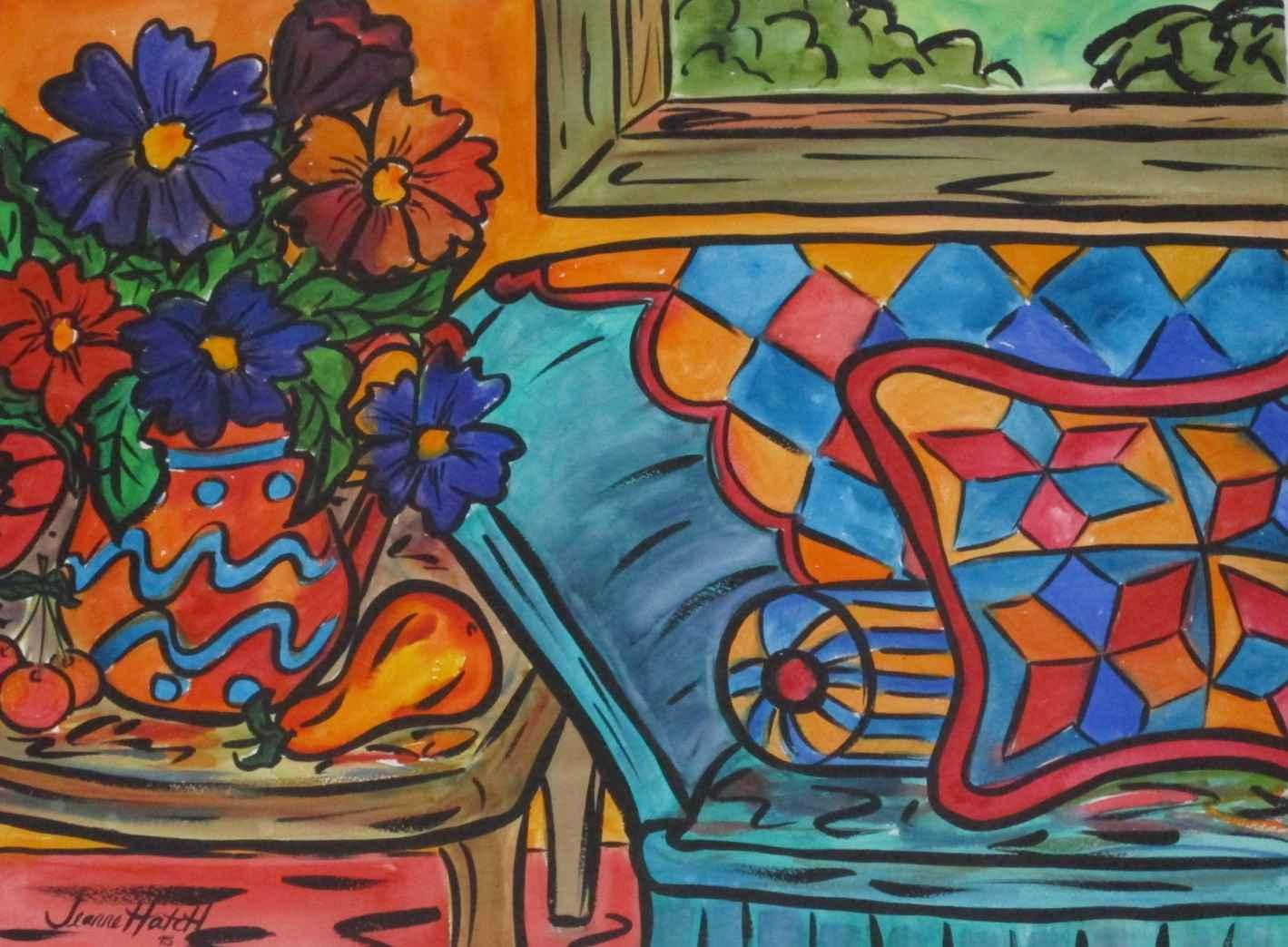 Untitled ( vase of fl... by  Jeannie Hatch - Masterpiece Online