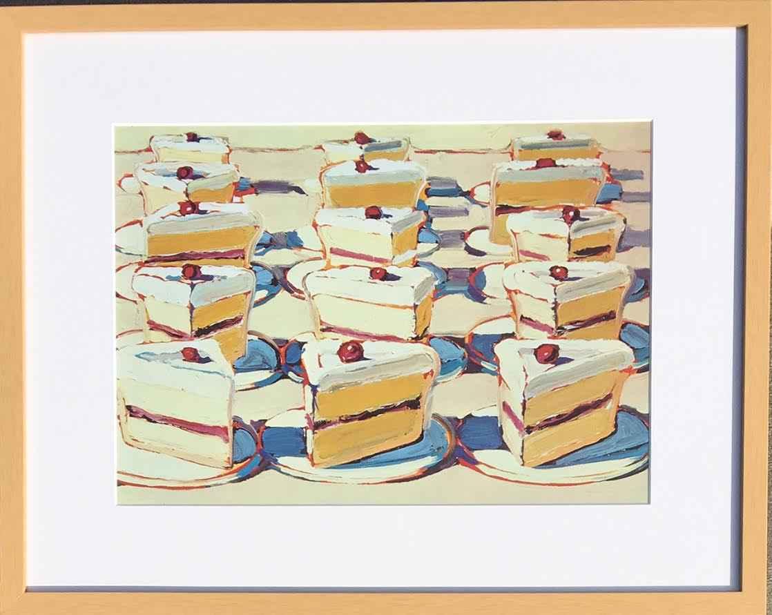 Meringues represented by  by  Wayne Thiebaud