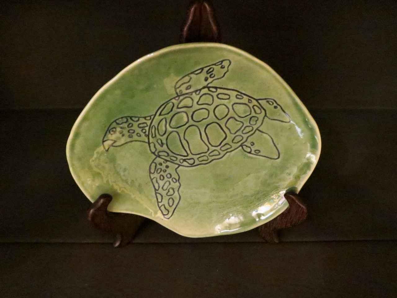 Green Hawk Bill Plate... by Ms. Birgitta Frazier - Masterpiece Online