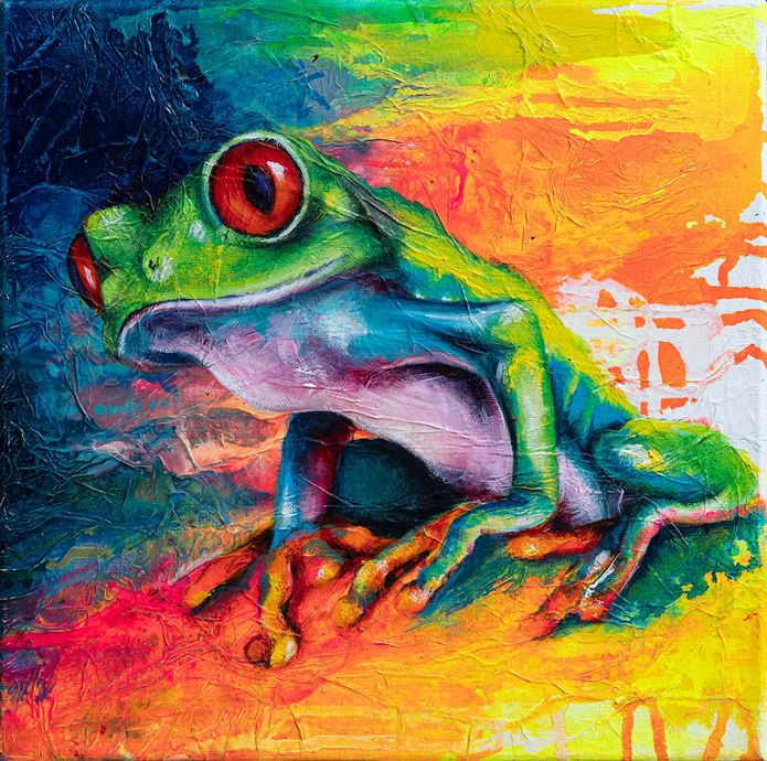 Red Eye Tree Frog 1 by  Sian Pampellonne - Masterpiece Online
