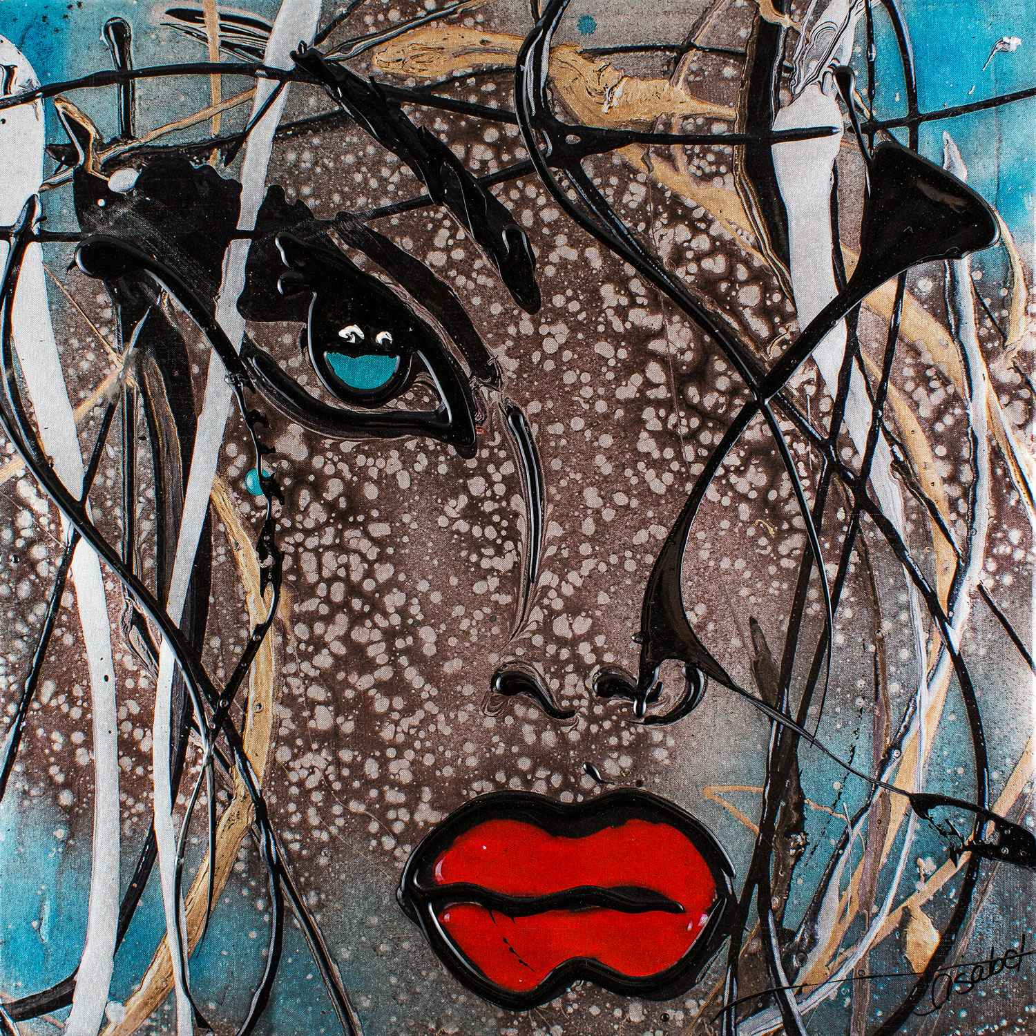 Giclee steal blue (me... represented by  by