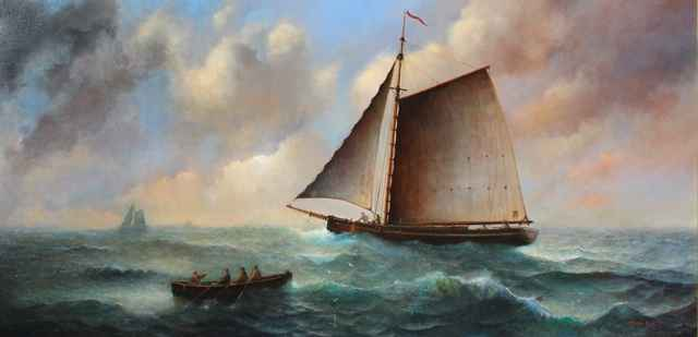 Shipping Off Portsmou... by  Roger  Budney - Masterpiece Online