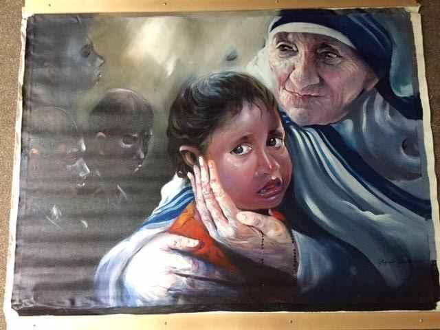 Mother Teresa - Kind ... by  Bijendra Pratap - Masterpiece Online