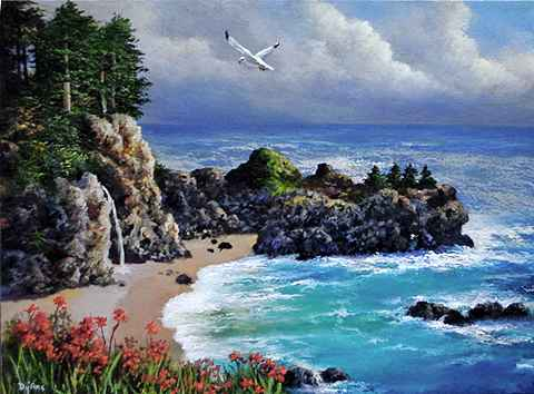 Falls at Big Sur by   Dy'Ans  - Masterpiece Online