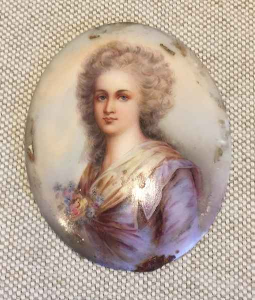 Handpainted Miniature... by  French  - Masterpiece Online