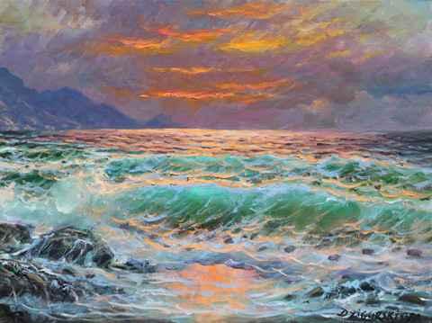 Dusk At Rocky Point by  A Dzigurski II - Masterpiece Online