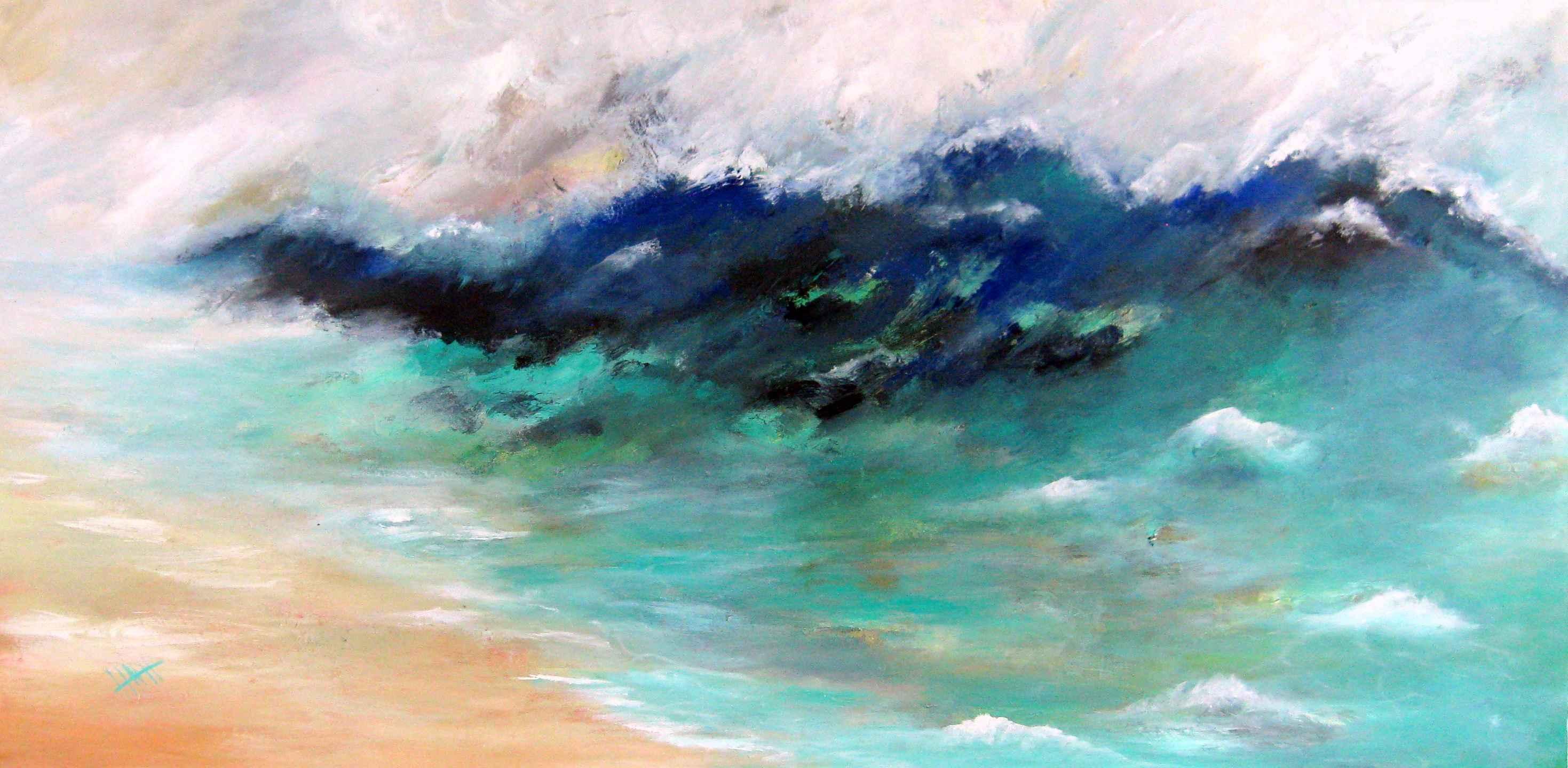 602 Stormy Seas Abstr... by Mr Nicholas Hadeed - Masterpiece Online