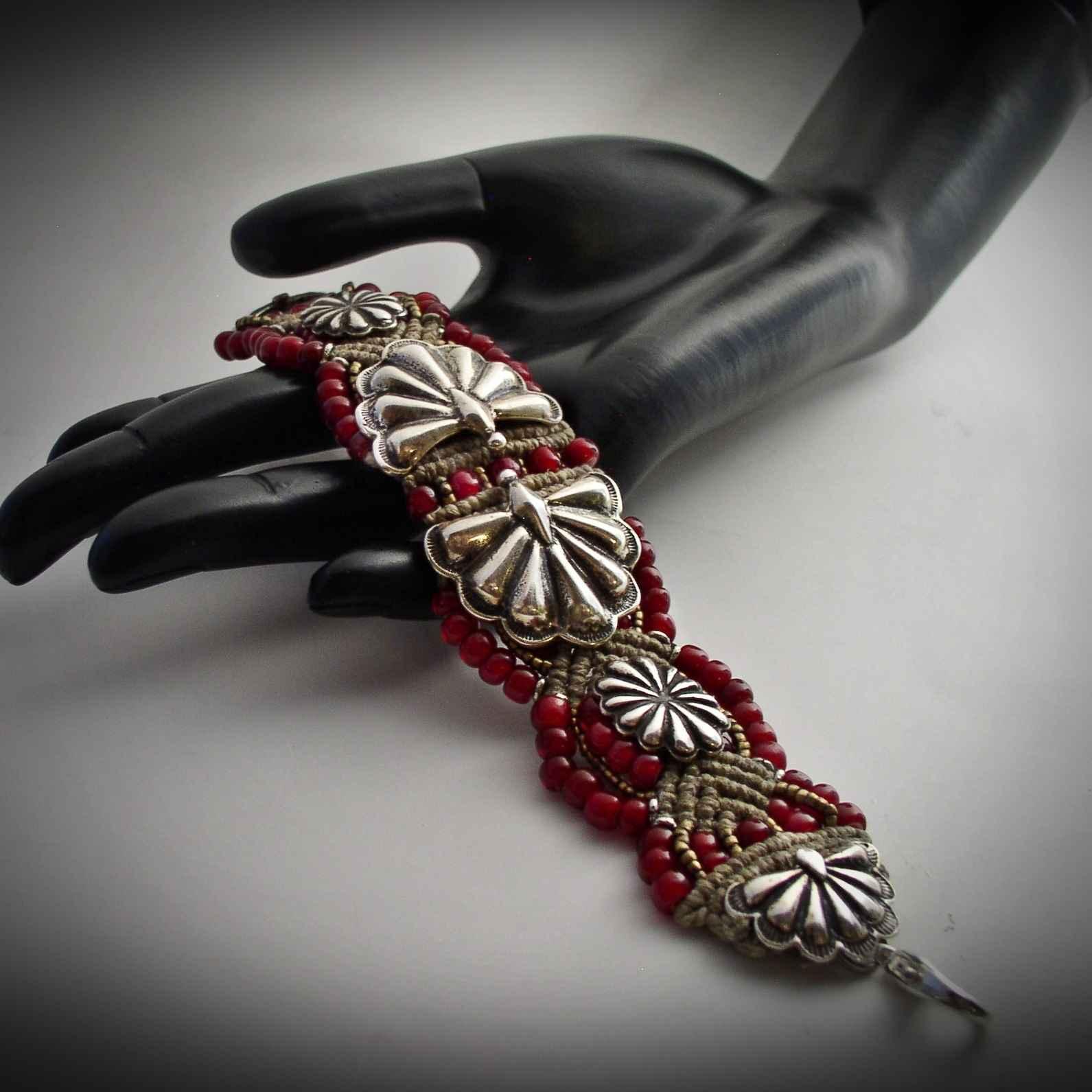 Radiate In Red Bracel... by  Mummy's Bundle - Masterpiece Online