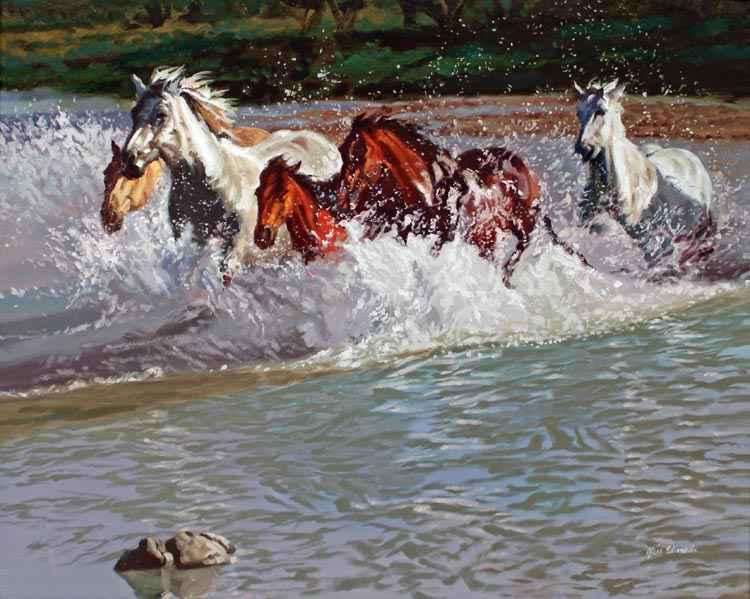 SOLD- River Shadows by  Glen Edwards - Masterpiece Online