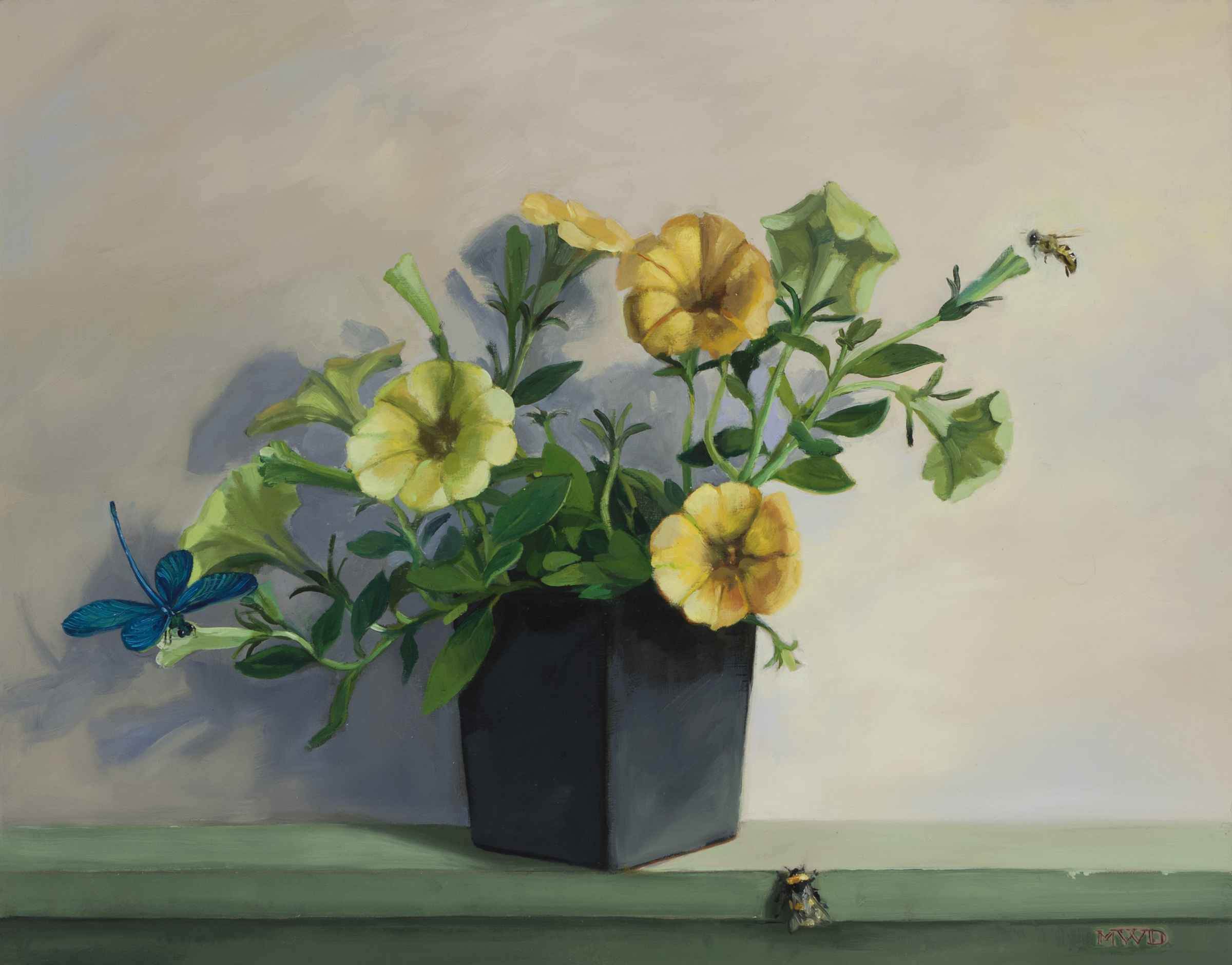 Trailing Petunias  by  Michelle Waldele