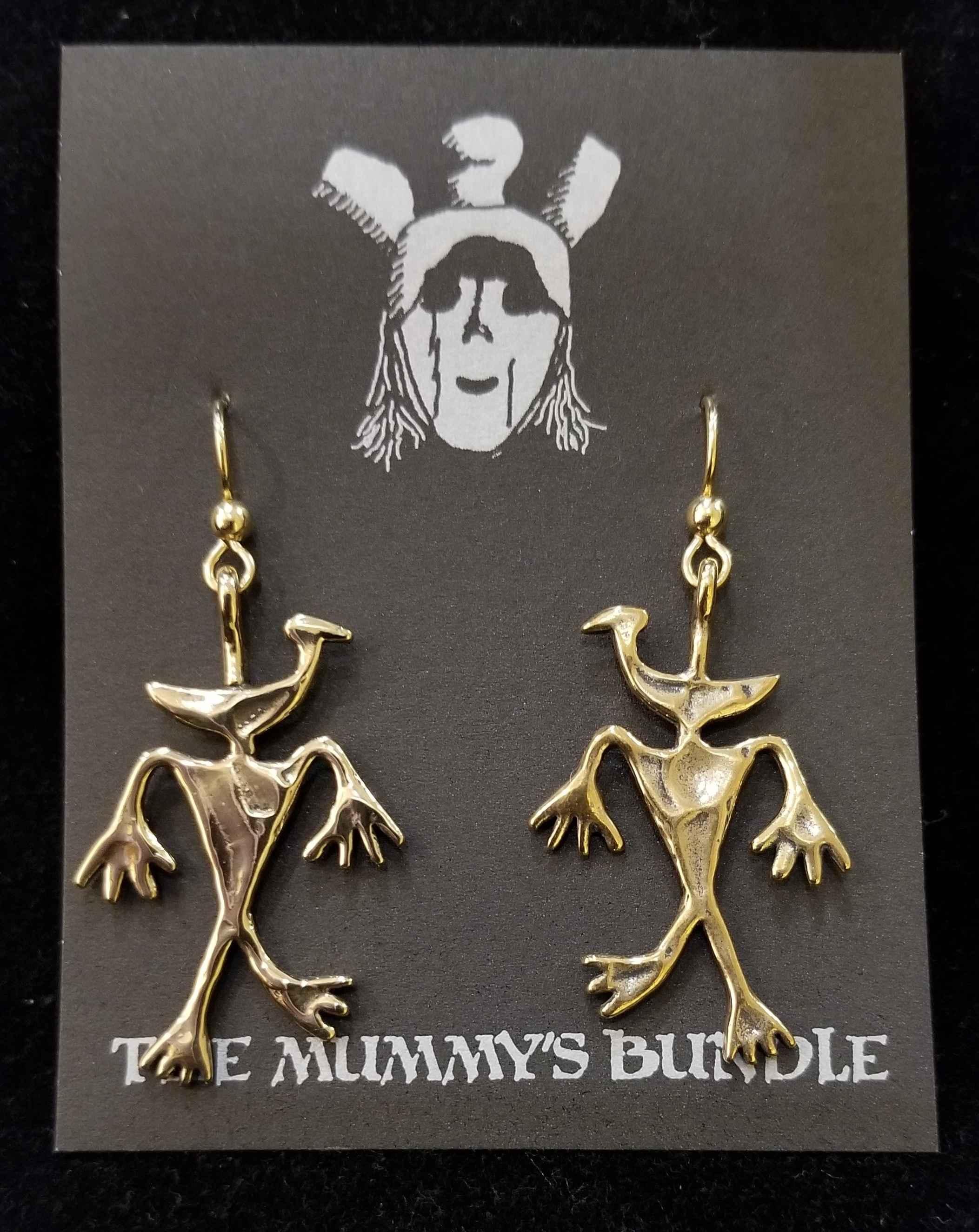 Duckman Brass Earrings by  Mummy's Bundle - Masterpiece Online