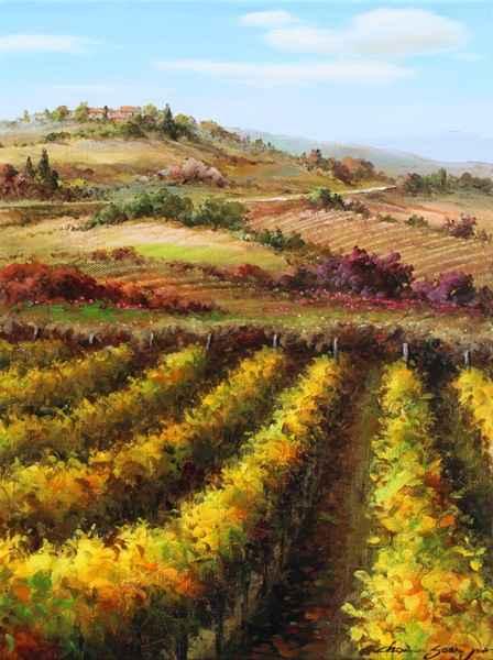 Vineyard Road by  Soon Ju Choi  - Masterpiece Online