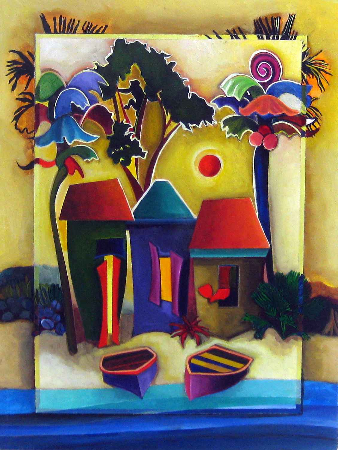 Large Fantasy Houses by Mrs. Howaida Moussa-Weel - Masterpiece Online
