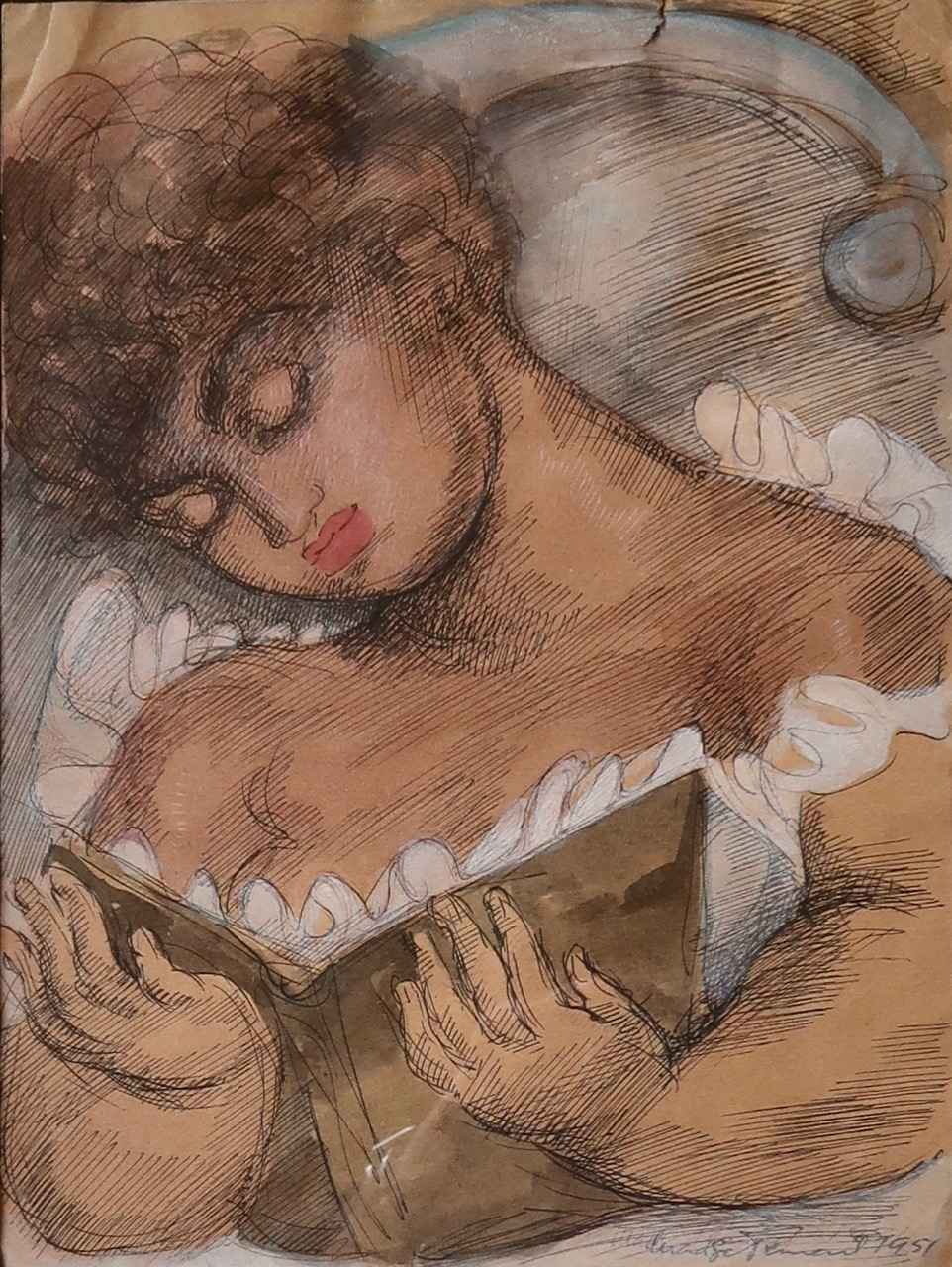 Young Woman Reading by  Madge Tennent (1889-1972) - Masterpiece Online
