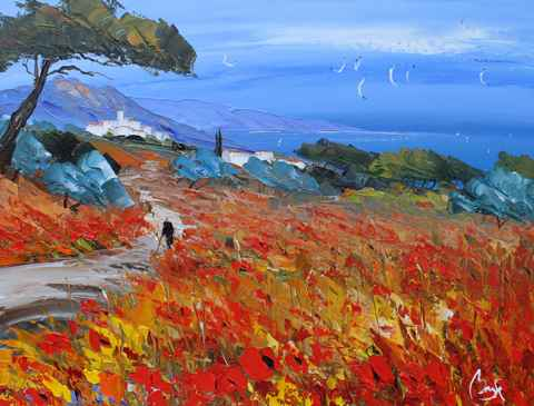 Poppy Field, Provence by  Louis  Magre - Masterpiece Online