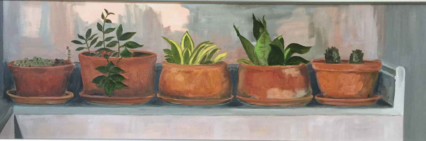 Five Clay Pots  by  Eunice Roy