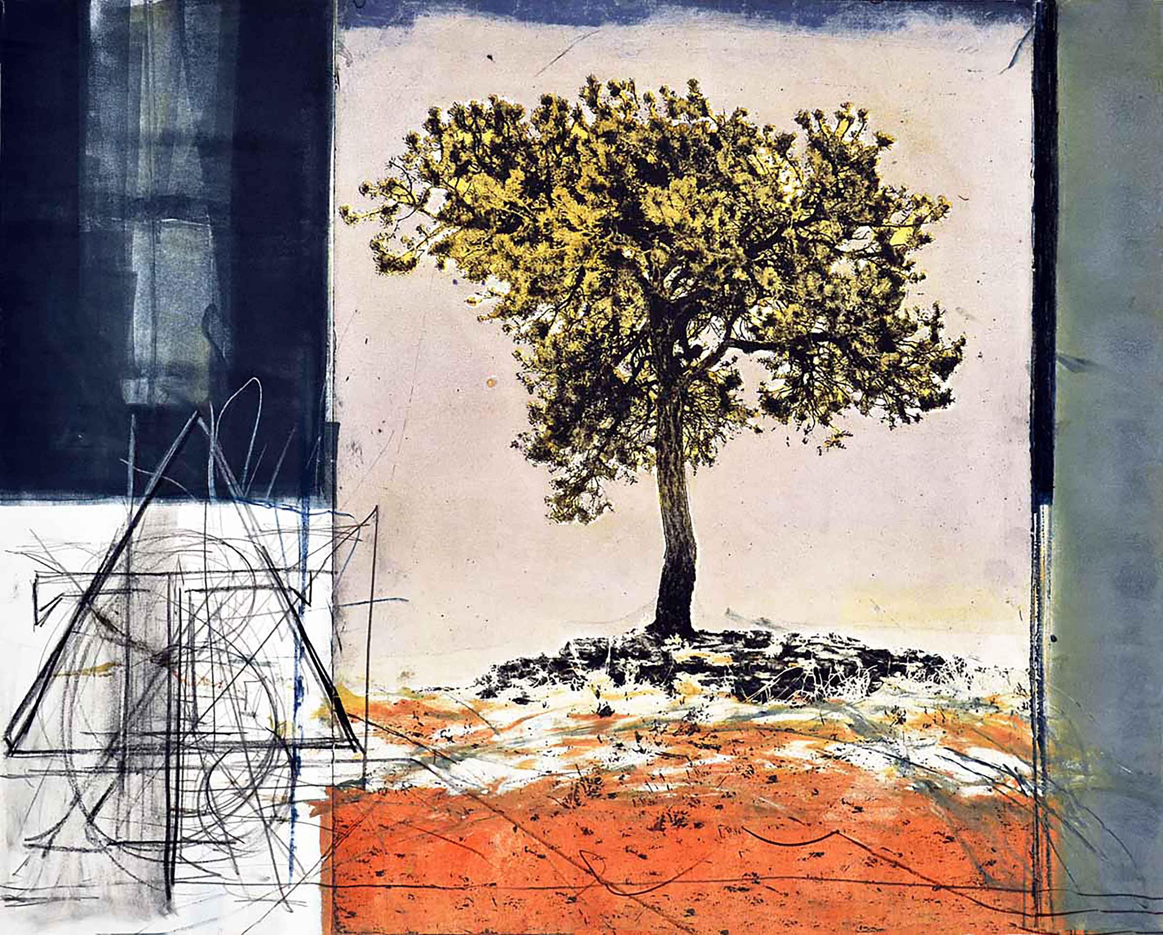 Drawn Beside a Tree  by  Ron Pokrasso
