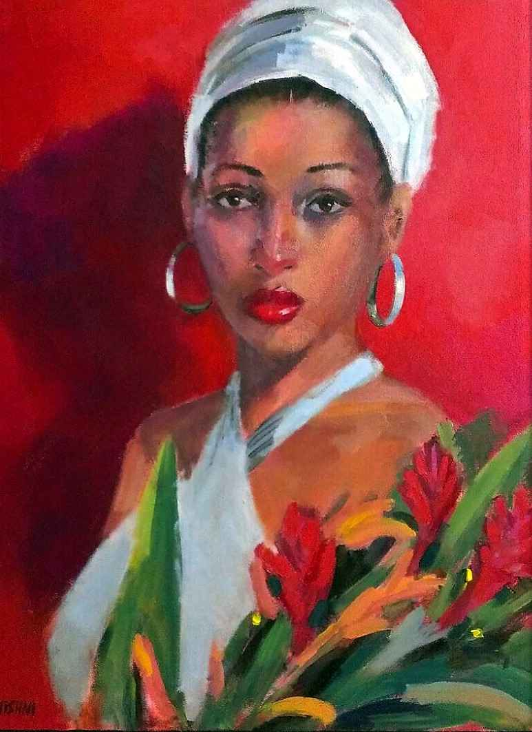 White Headtie and Gin... by Mrs. Vishni Gopwani - Masterpiece Online