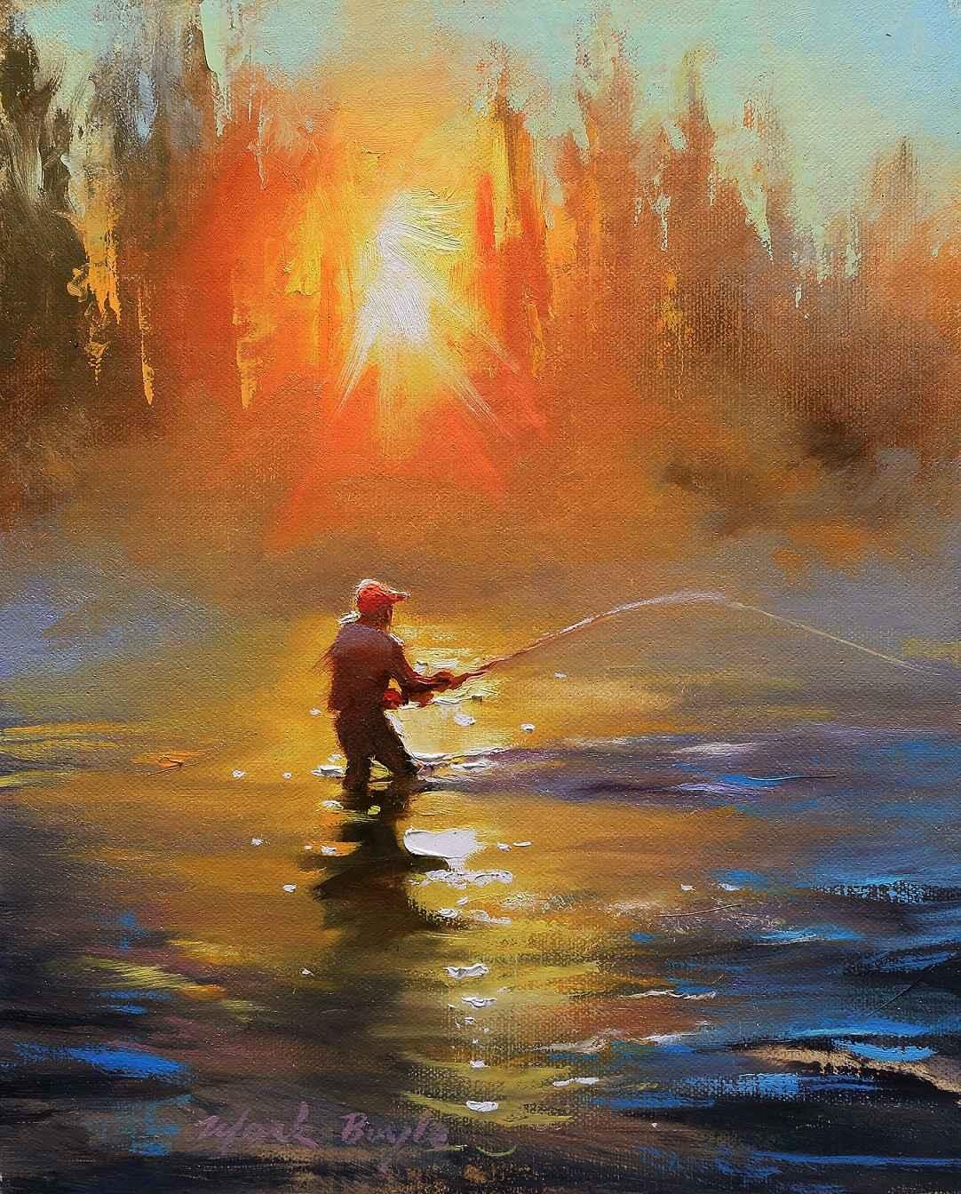 Fiery Sunset  by Mr Mark Boyle