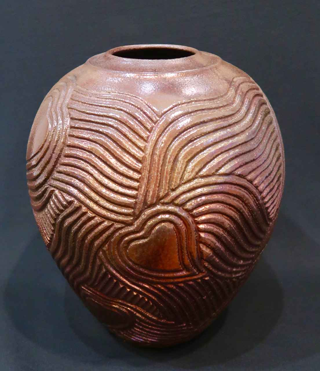 Raku Fired Vessel, Li... by Ms. Birgitta Frazier - Masterpiece Online