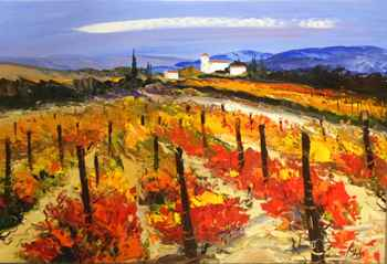 Provencal Vineyard  by  Louis  Magre