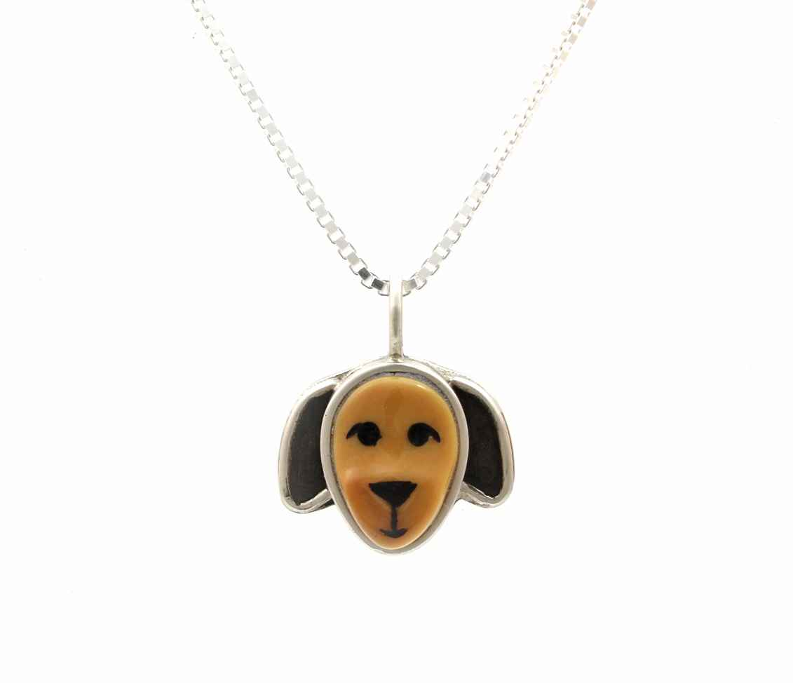 Floppy Dog Pendant by  Michelle Tapia - Masterpiece Online