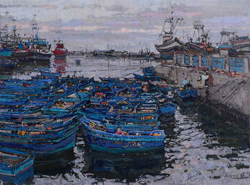 Harbor Study by  Daud Akhriev - Masterpiece Online