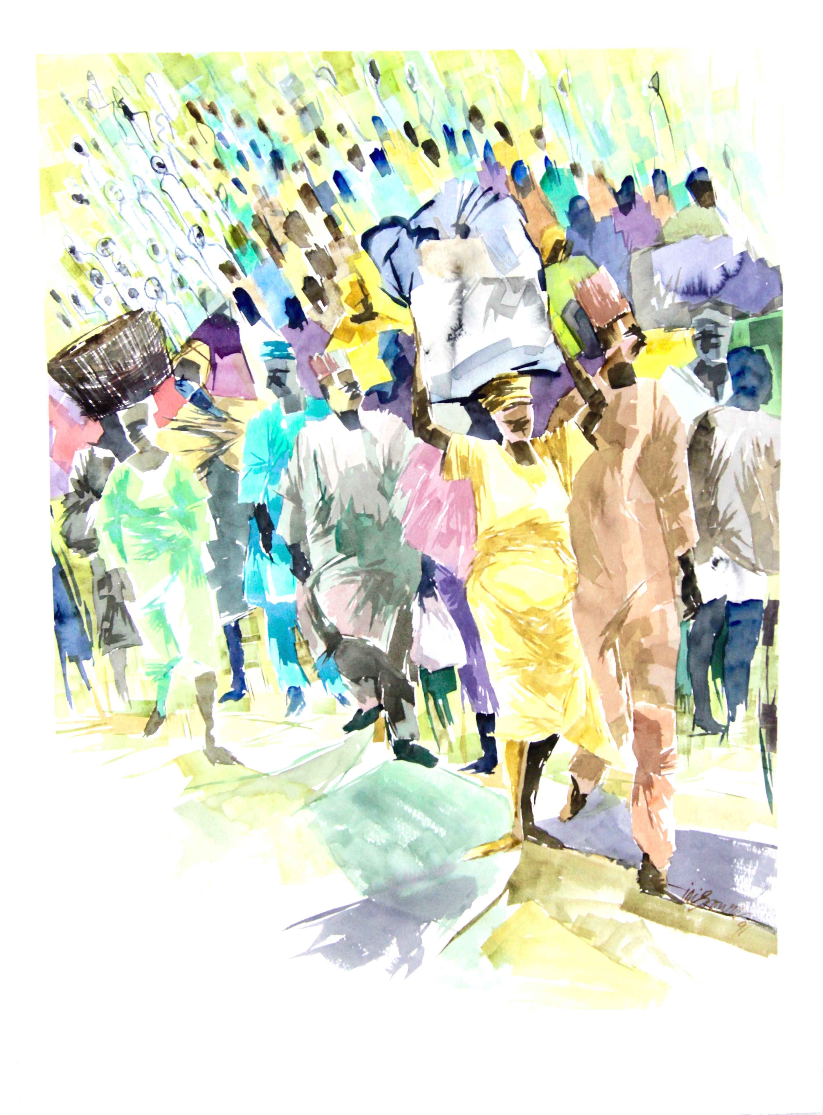 The Crowd by Mr Ini Brown - Masterpiece Online