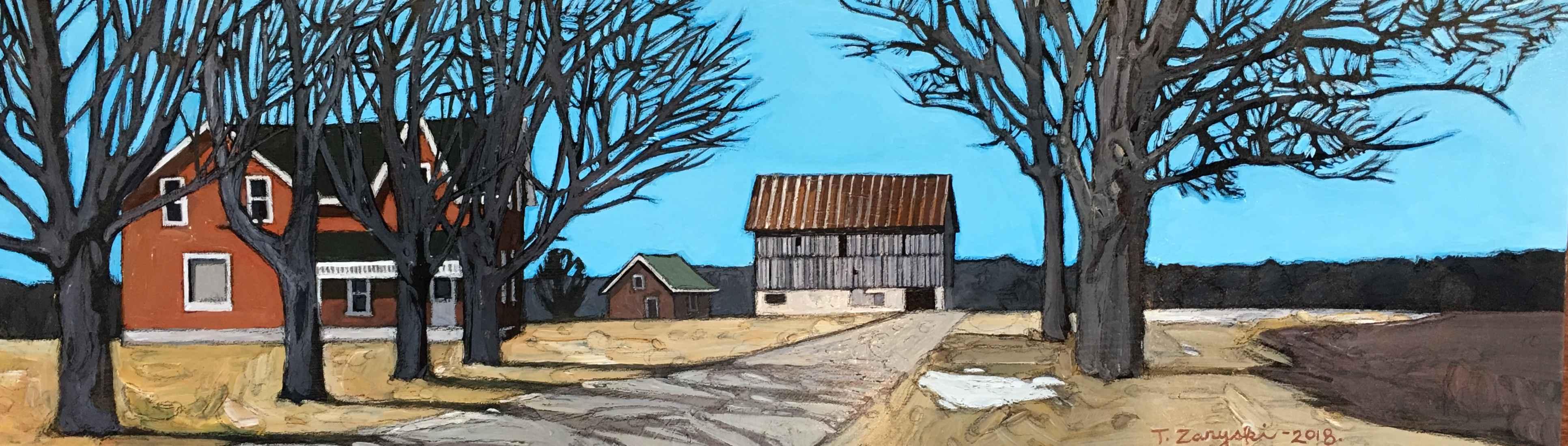Winter Farm by  Tanya Zaryski - Masterpiece Online
