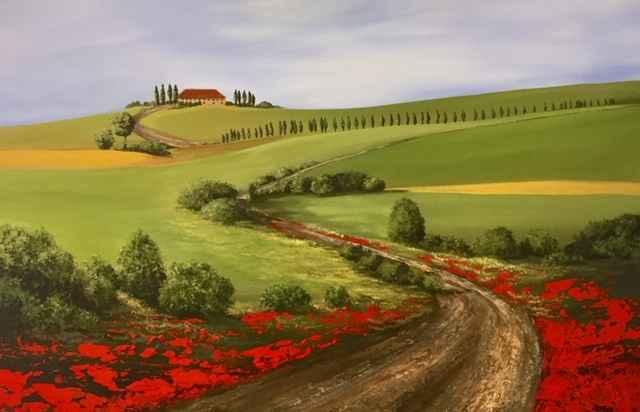 Tuscan Fields by  Janet Liesemer - Masterpiece Online