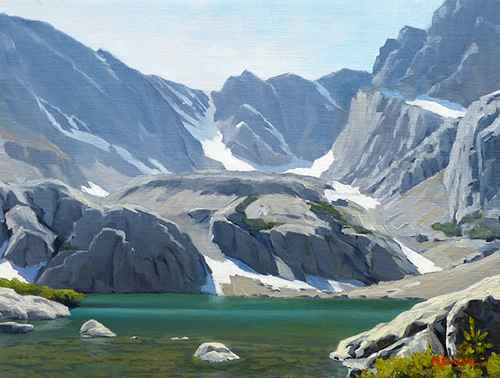 Up At sky Pond by  Michael Baum - Masterpiece Online
