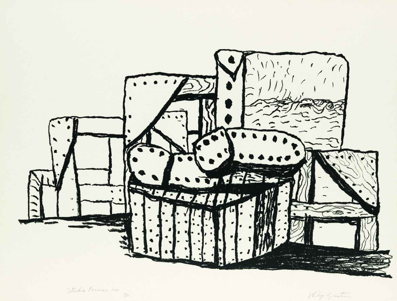 Studio Forms  by  Philip Guston