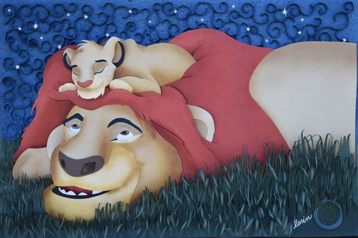 Lion King Papercut by  Karin Arruda - Masterpiece Online