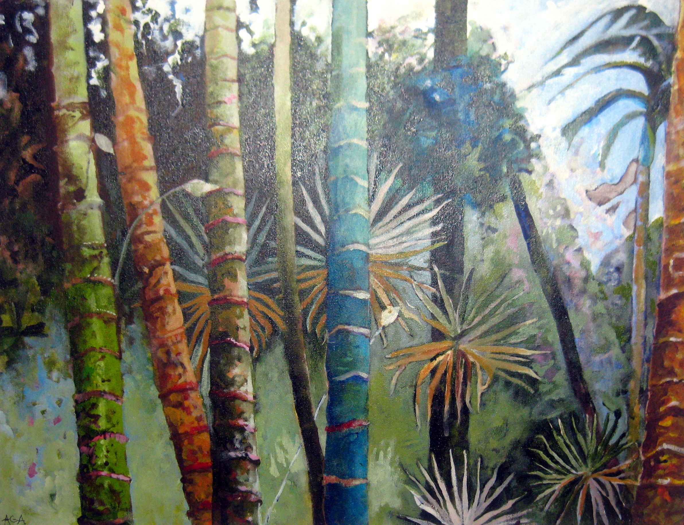 Panadanus and Palms by Ms Alison Chapman-Andrews - Masterpiece Online