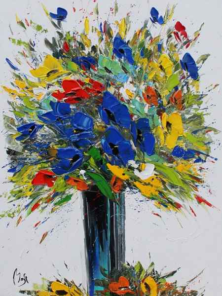 Colorful Bouquet  by  Louis  Magre