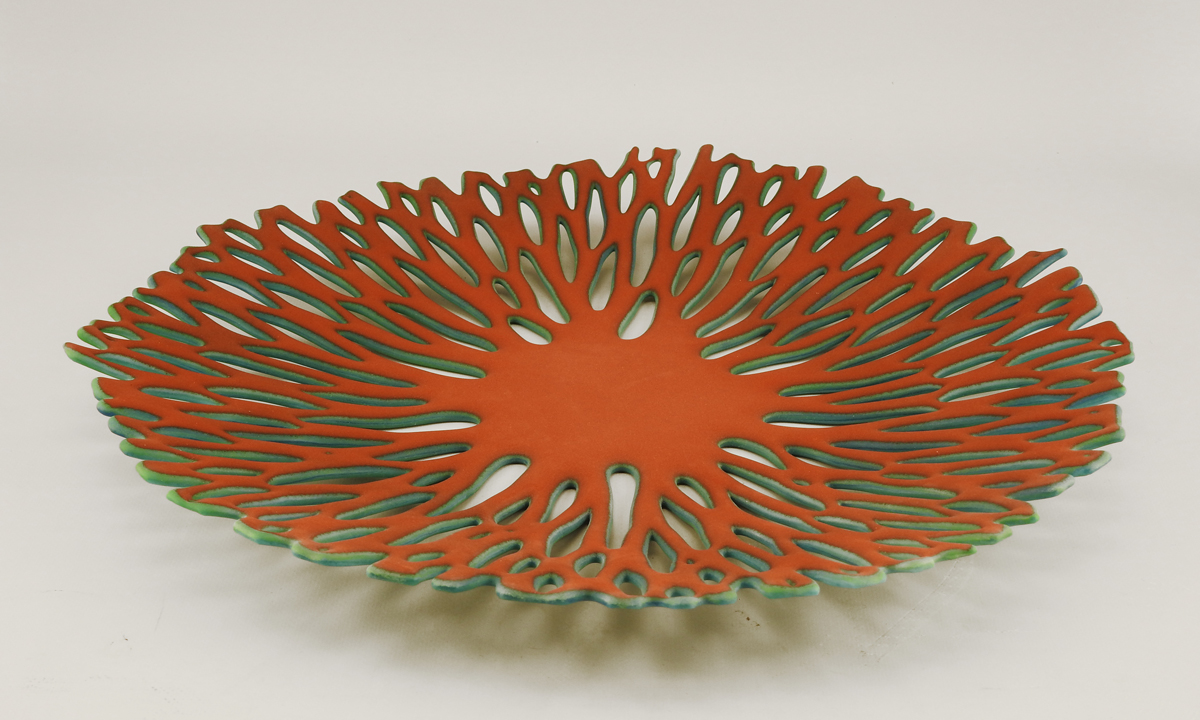 Bowl/Red & Teal by  Glenda Kronke - Masterpiece Online