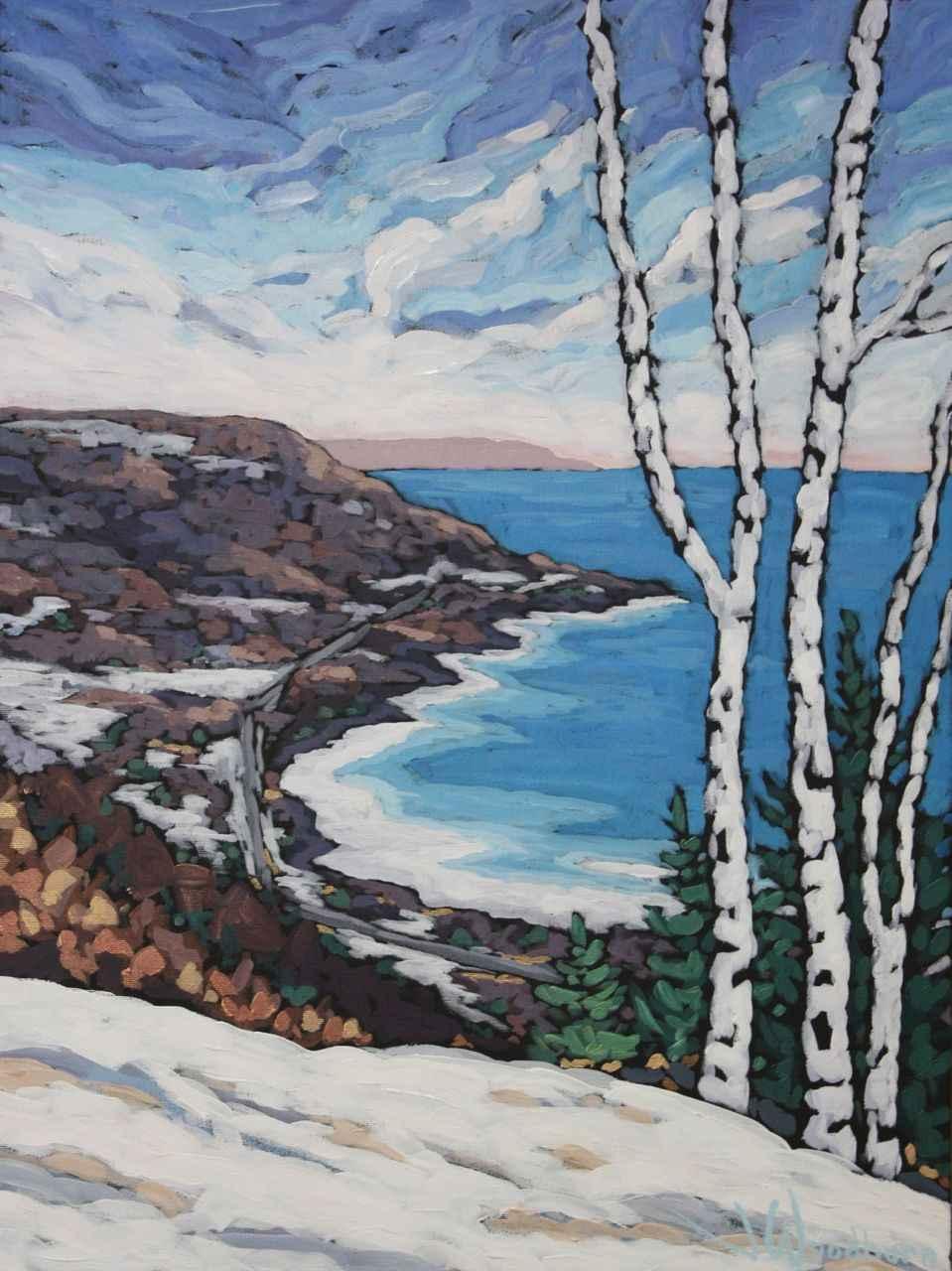 Winter Across the Bay... by Ms Jennifer Woodburn - Masterpiece Online