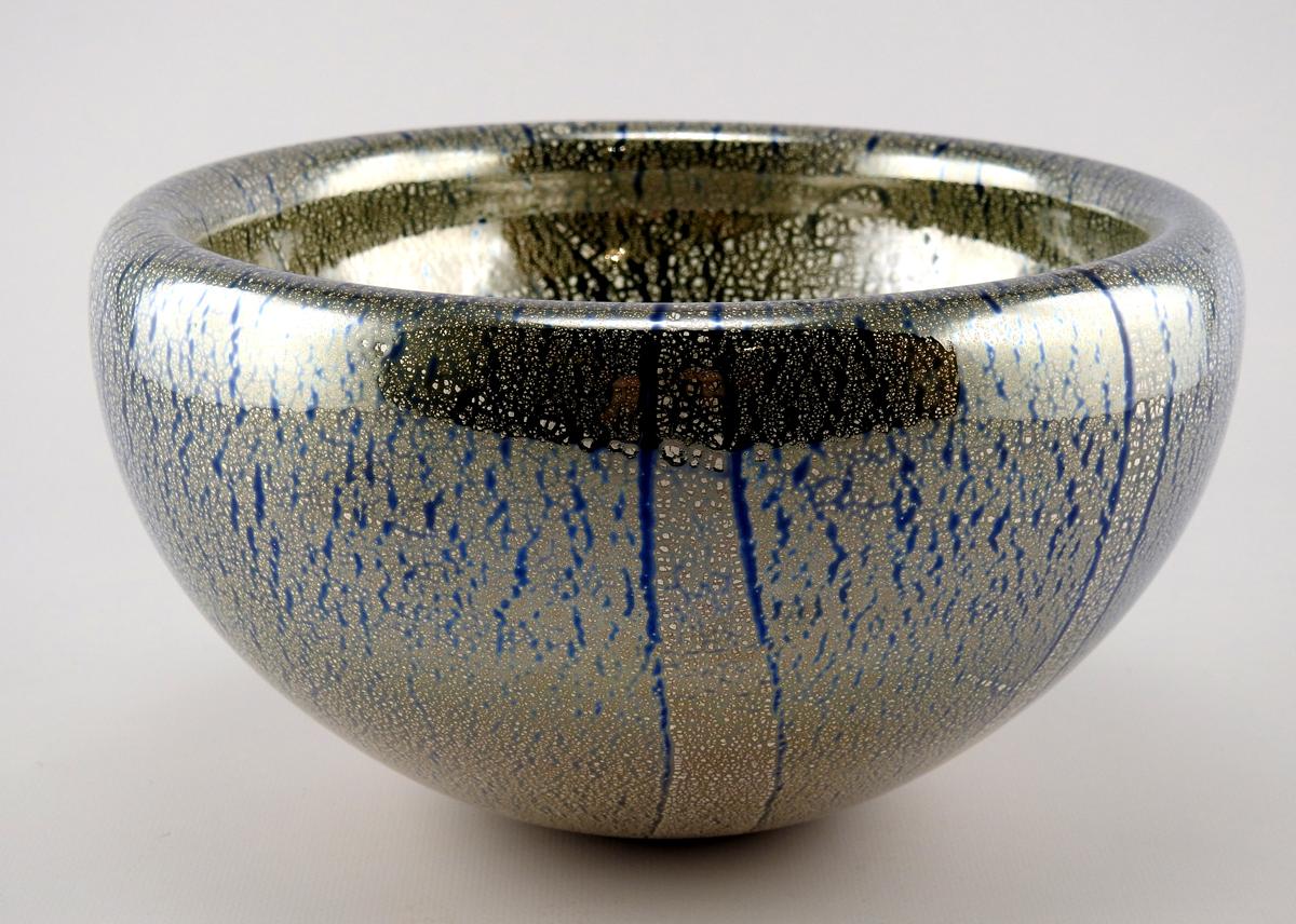 Bowl/Cobalt Silver Le... by  Joy Jackson - Masterpiece Online