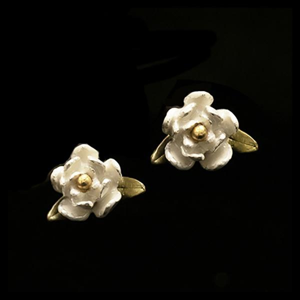 Magnolia Blossom Post Earrings