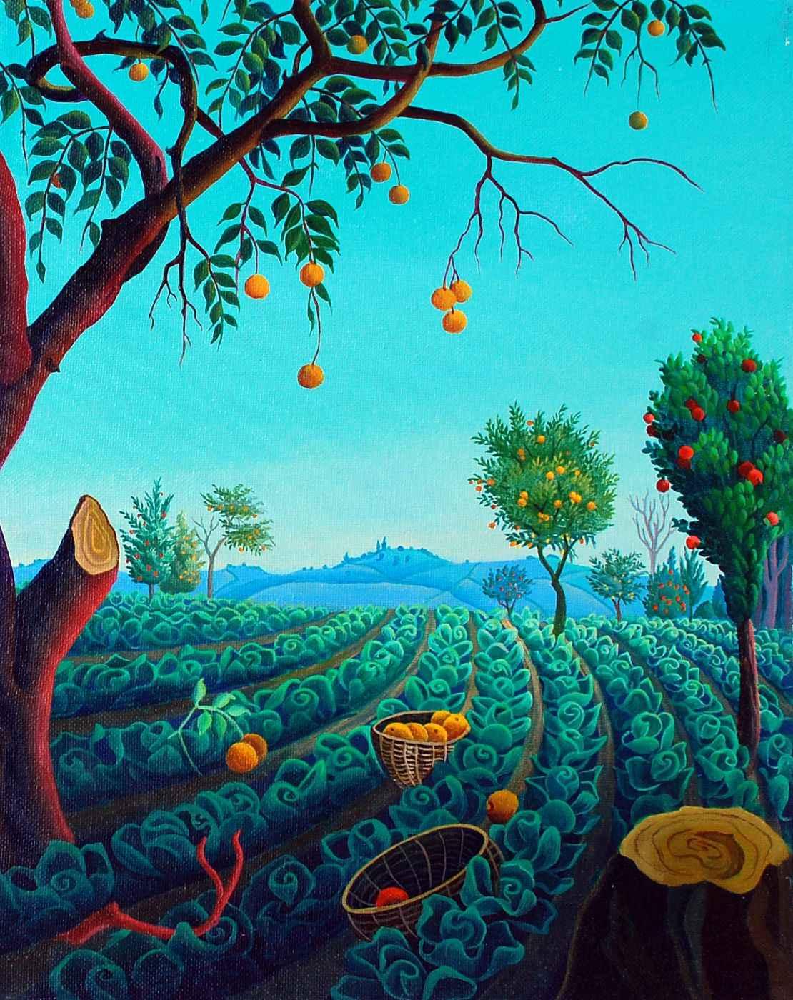The Orange Tree by  Roosevelt SANON - Masterpiece Online