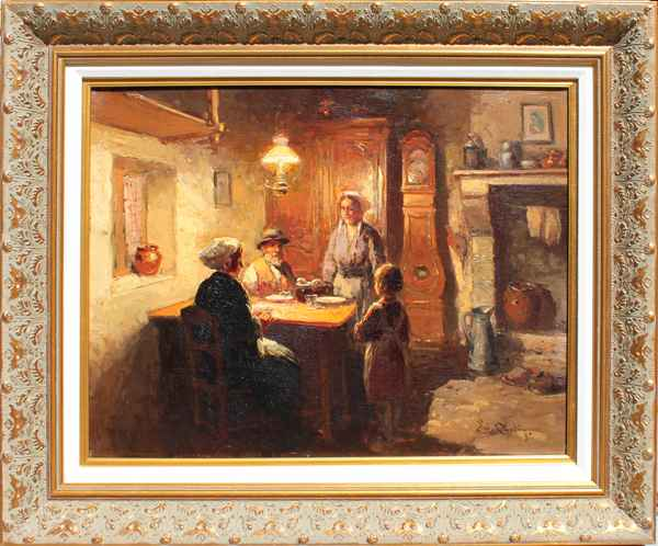 At the table  by  Edouard  Cortes
