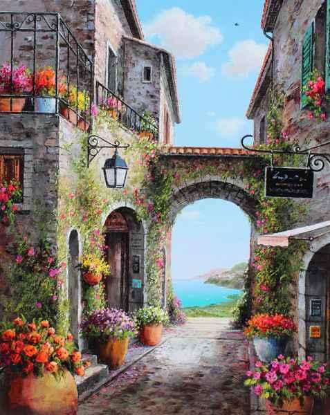 Flowerpots Above by  Soon Ju Choi  - Masterpiece Online