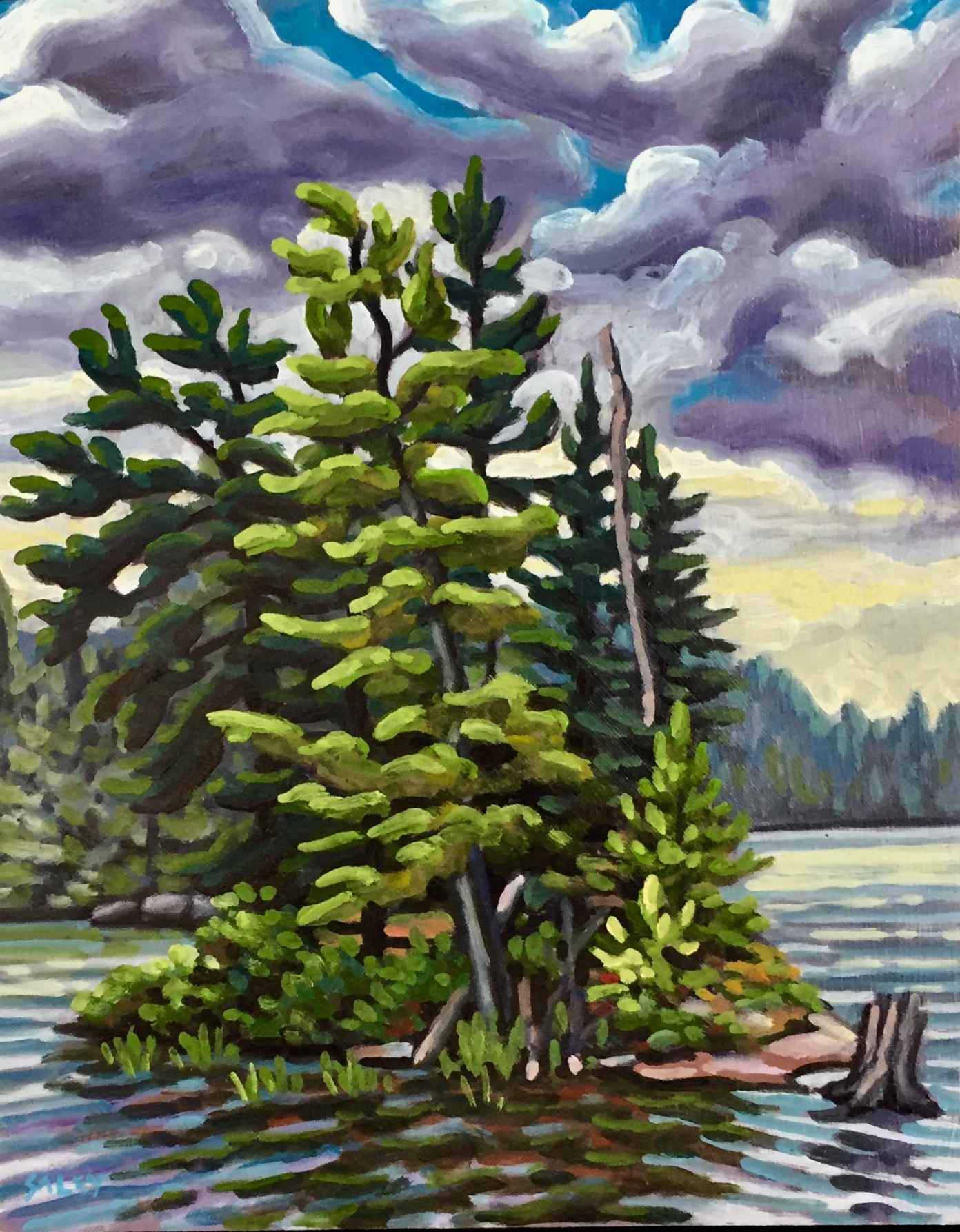 Tea Lake Island by  Rob Saley - Masterpiece Online