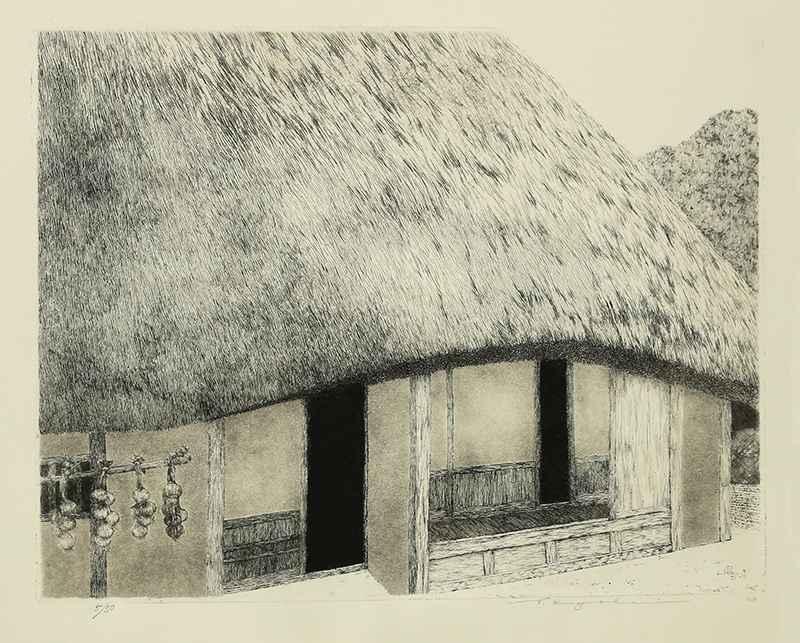 Folk House in the Sun... by  Ryohei Tanaka - Masterpiece Online