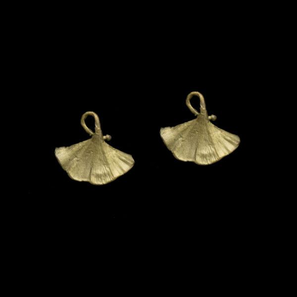 Ginkgo Post Earrings