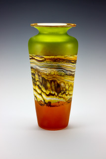 Traditional Urn in Translucent Lime Tangerine