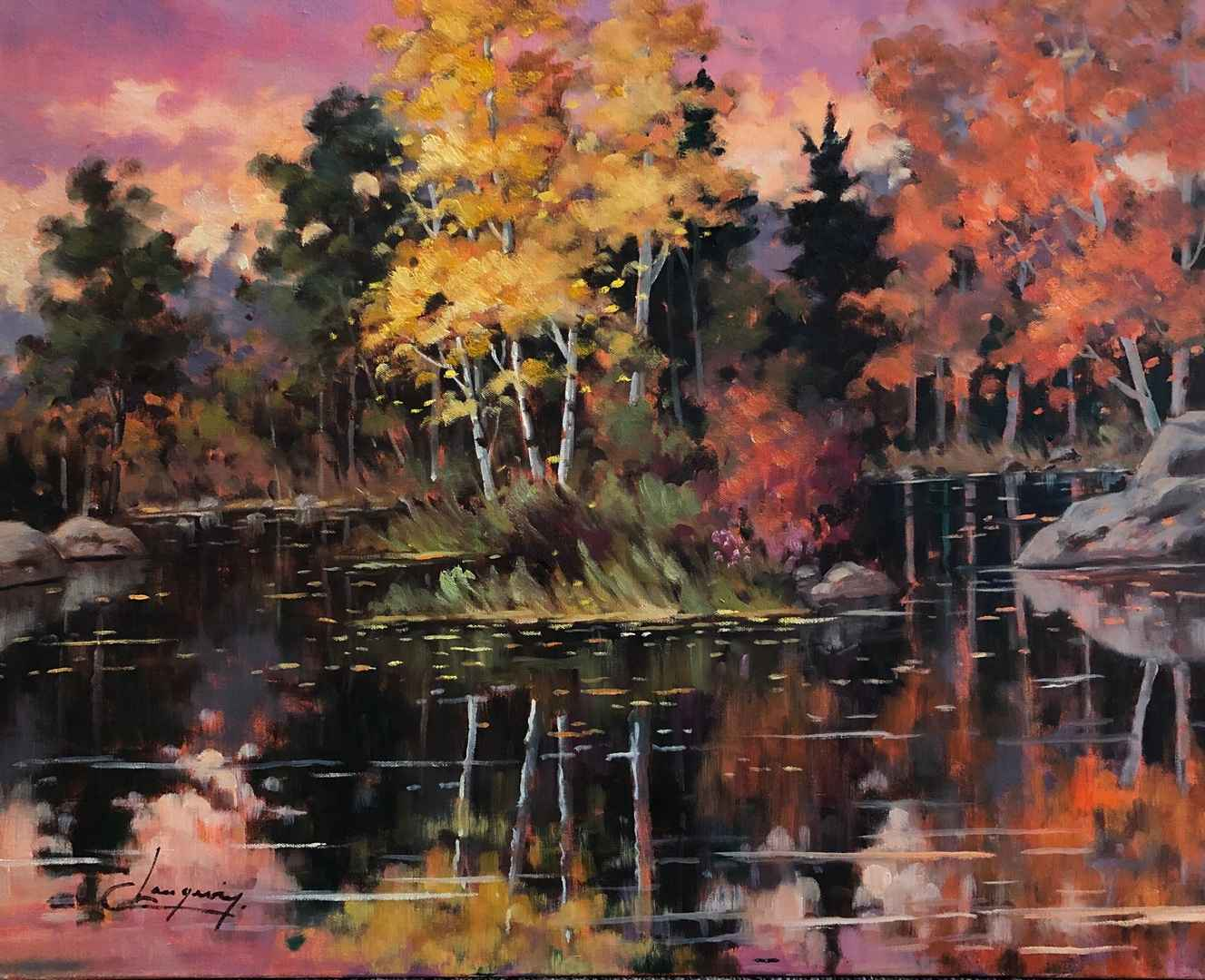 Reflection Automnale by  Claude Langevin - Masterpiece Online
