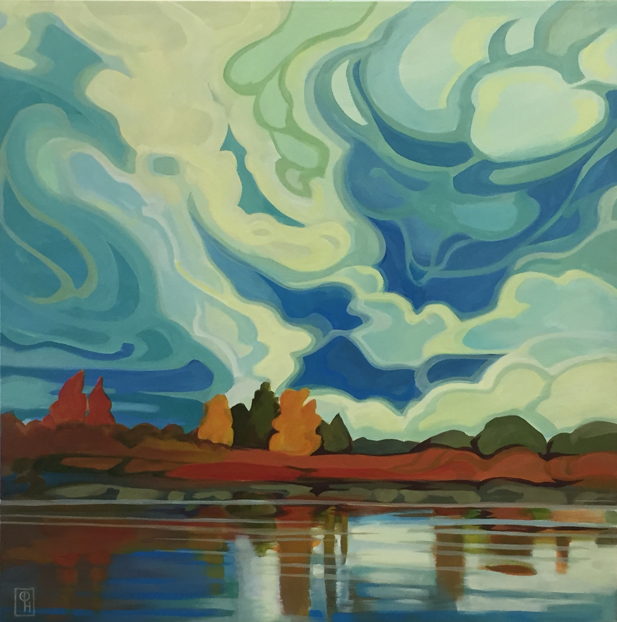 Billowing Down by  Erica Hawkes - Masterpiece Online