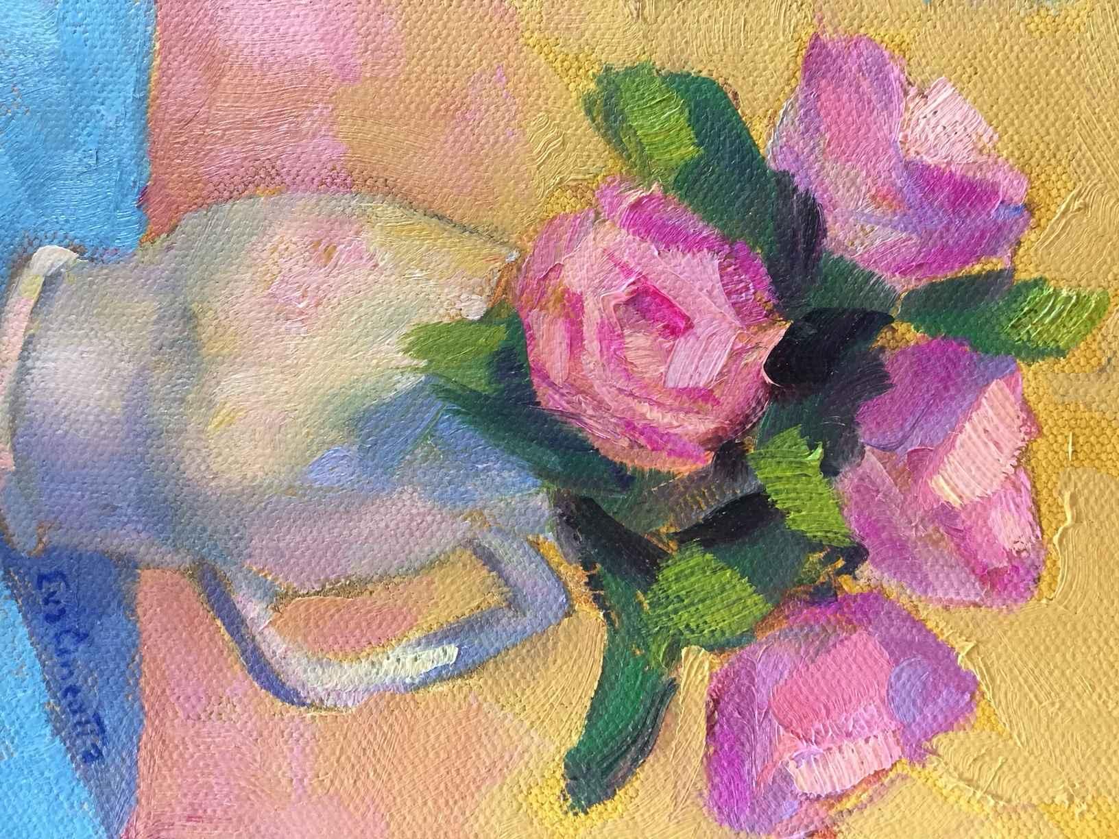 Pink Roses by  Eva Cincotta - Masterpiece Online